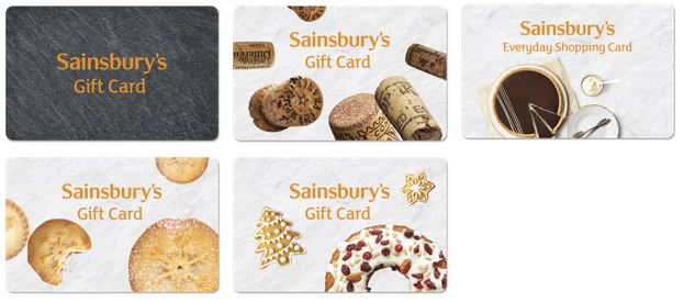 Assortment of Sainsbury's gift cards