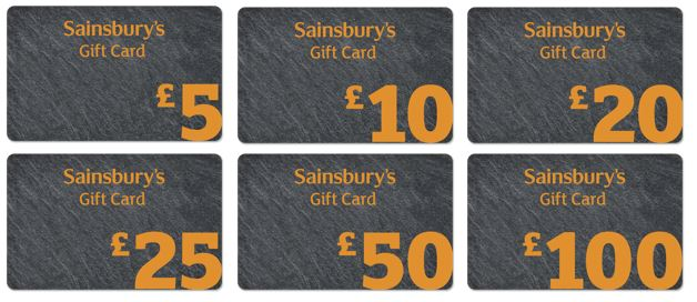 Selection of pre loaded gift cards
